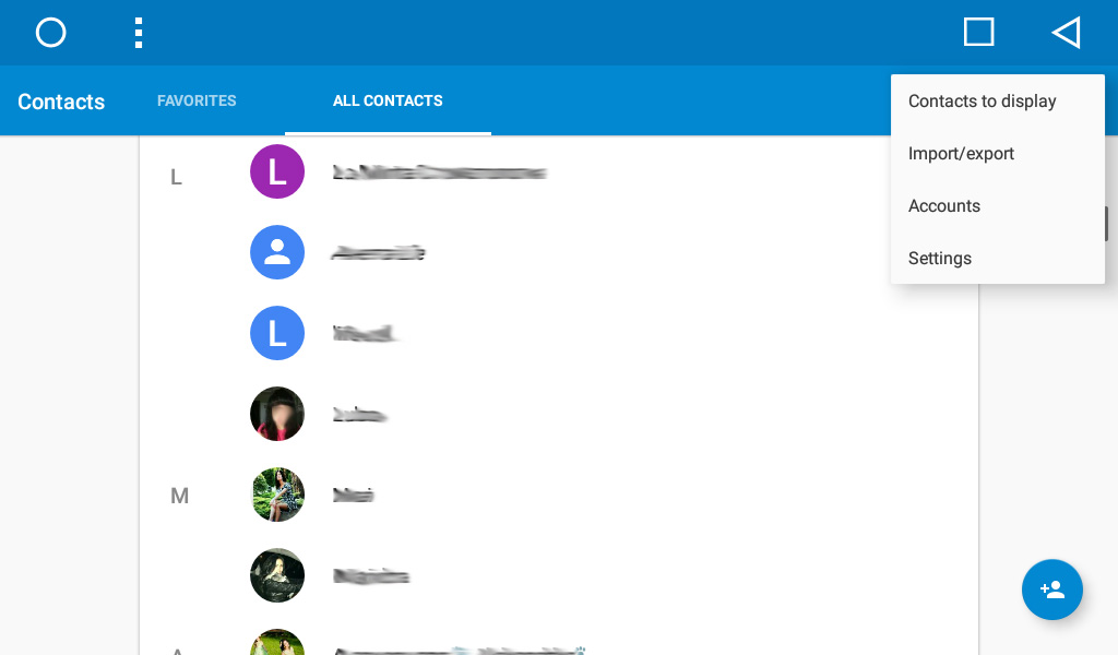 Google Contacts application